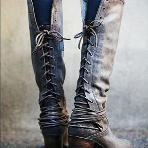 """Freebird by Steven leather & Suede """"coal"""" boots"""